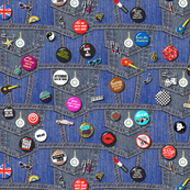 '80s Rock & Roll Flair (Mini)    buttons pins pinbacks music retro denim rock and roll band typography words fashion friendship punk emo