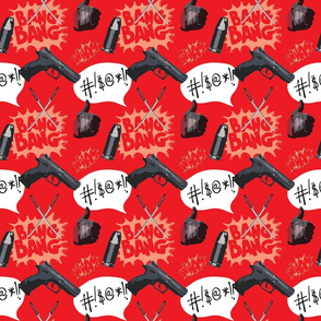 Comic Deadpool-inspired pattern