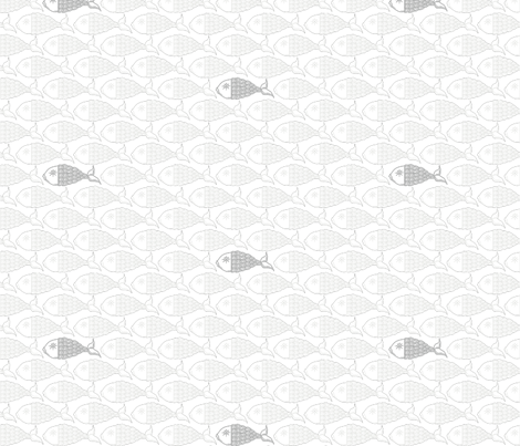 School of Fish, Miniature fabric by do'dellbug's on Spoonflower - custom fabric