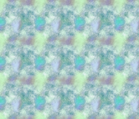 watercolor aqua green fabric by koalalady on Spoonflower - custom fabric