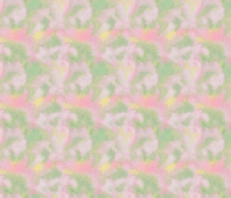 watercolor blender pink and green fabric by koalalady on Spoonflower - custom fabric