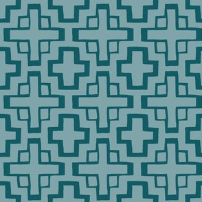 mosaic pool tiles in pool blue/ocean blue