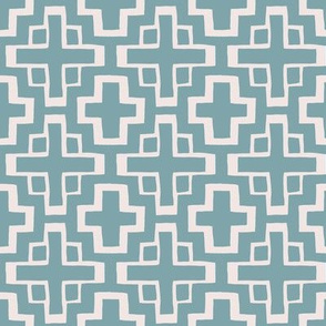 mosaic pool tiles in pool blue/sunbleached pink