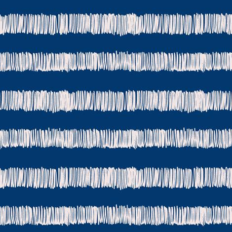 terry cloth towel stripe nautical navy/sunbleached pink fabric by ali*b on Spoonflower - custom fabric