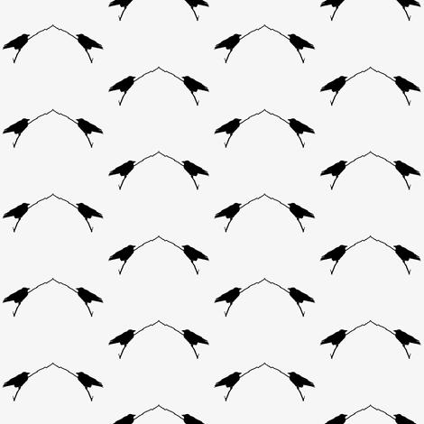 Birds in  Silhouette fabric by flutterbi on Spoonflower - custom fabric