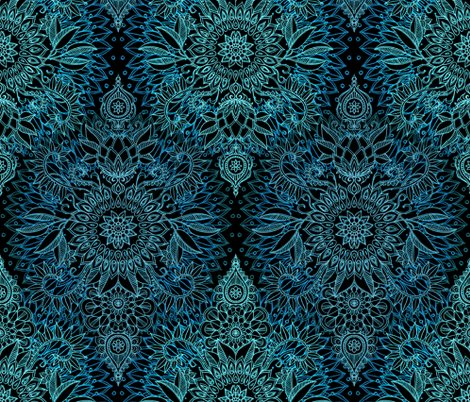 Rprotea_pattern_base_teal_mint_black_shop_preview