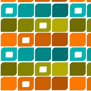 Mid-Century Geometric Pattern