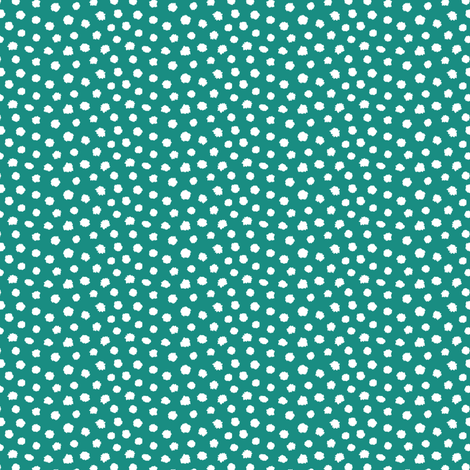 White spots on teal green fabric by revista on Spoonflower - custom fabric