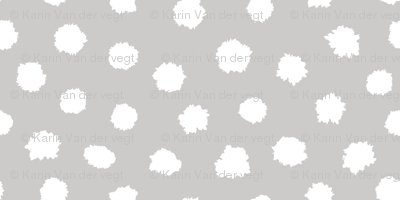 Ink spots white & grey