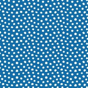 Jeans blue white dots