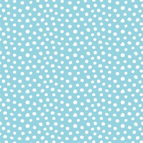 Blue sky white dots