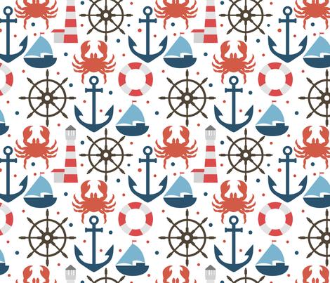 Sea fabric by juliabadeeva on Spoonflower - custom fabric