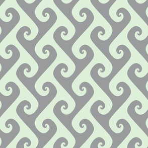 tendrils in pale green and grey