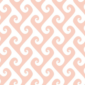 tendrils in peachy-pink and white