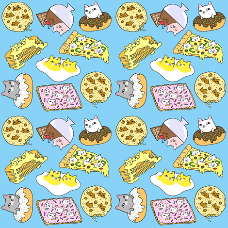 Cats in Food fabric - natelledrawsstuff - Spoonflower Food Fabric on food wallpaper, food book display, food sewing projects, food fashion, food gift wrap, food puzzle pieces, food sensations, food made of, food classes, food ribbons, food wood sticks, food made from felt, food word book, food illustration board, food loom, food shoppping, food project ideas, food toys, food label system, food props,