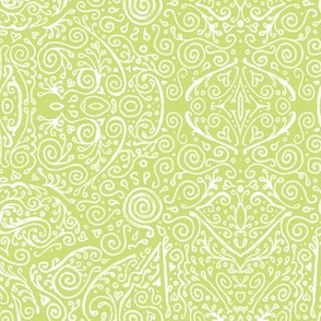 matcha green and white mendhi