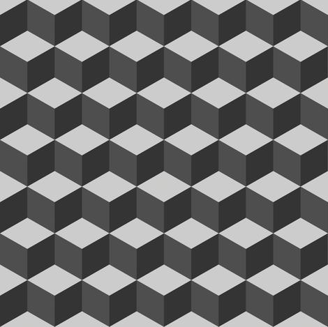 Geometric-Cubix fabric by linziloop on Spoonflower - custom fabric