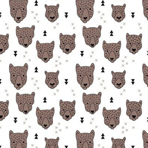 Geometric safari leopard cute woodland animals forest fall XS
