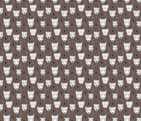 Geometric safari leopard cute woodland animals forest fall XS fabric by littlesmilemakers on Spoonflower - custom fabric
