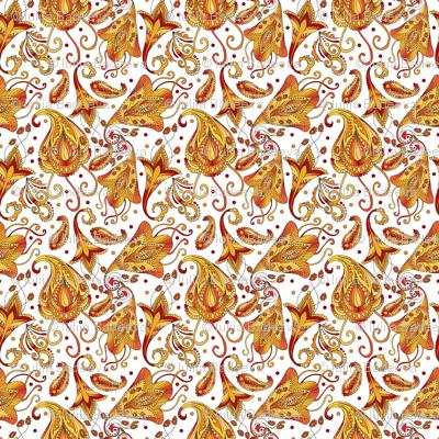 Ethnic white pattern