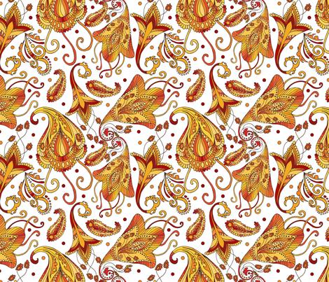 Ethnic white pattern fabric by juliabadeeva on Spoonflower - custom fabric