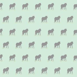 Wolf on mint