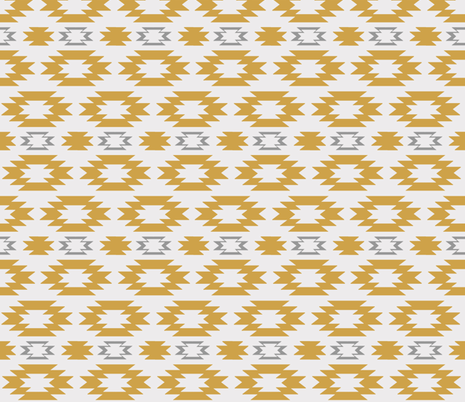 Aztec Gold Gray fabric by sproutz on Spoonflower - custom fabric