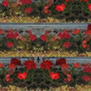 Geraniums & Stone - Horizontal Stripe