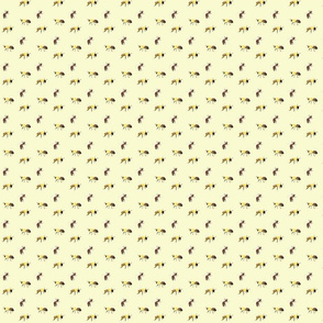 bees on yellow