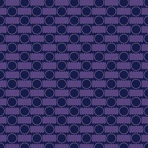 Postmarked* (Jackie Blue & Lavender Disaster) || postal service snail mail postmark letter airmail par avion geometric polka dot wave