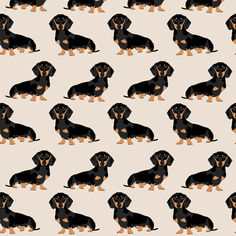 doxie dachshund weiner dog pet dogs dog weiner dog weener dog wiener dog cute pet dog fabric by petfriendly on Spoonflower - custom fabric