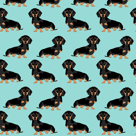 doxie dachshund wiener dog dogs pet pets  fabric by petfriendly on Spoonflower - custom fabric