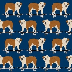 english bulldog nursery navy blue baby kids boys skateboard hipster trendy dog dogs pet pet dog bulldogs