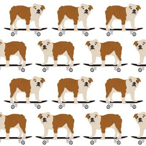 english bulldog skateboard kids funny white nursery boys baby kids dog pet dog dogs skateboards