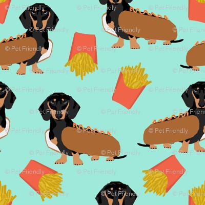 dachshund hot dog and fries food funny dog costume cute dog wiener dog