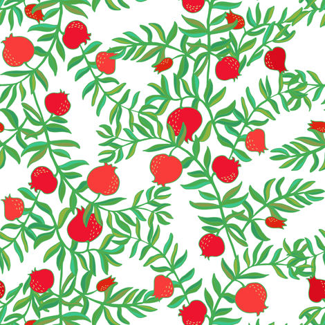 Pomegranate fabric by dariara on Spoonflower - custom fabric
