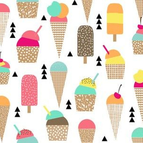 ice cream summer triangles tropical ice creams sweets kids food sweet tropical ice cream cone