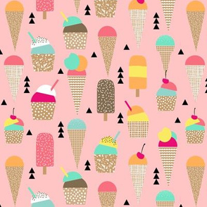 ice creams sweet pastel ice cream cone summer kids pastel pink bright