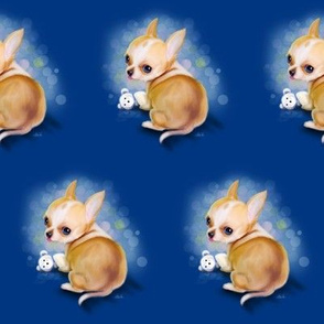Chihuahua Blue Medium pattern