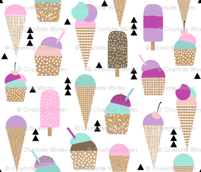 ice creams sweets ice-cream kids summer sweet purple pastel girly