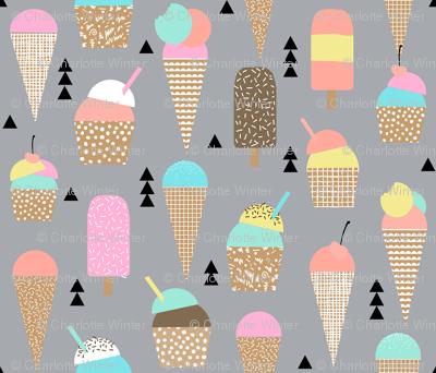 ice creams ice cream cone sweets summer tropical kids pastel
