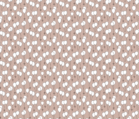 Balloon birthday celebration festive party scandinavian style kids design gender neutral beige fabric by littlesmilemakers on Spoonflower - custom fabric