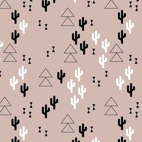 Geometric cactus scandinavian fall winter trend triangle design gender neutral beige