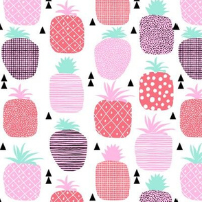 pineapples pink tropical pastel girly summer food