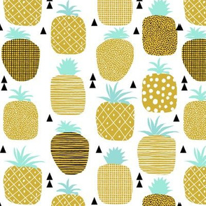 pineapple summer spring fruit triangle texture