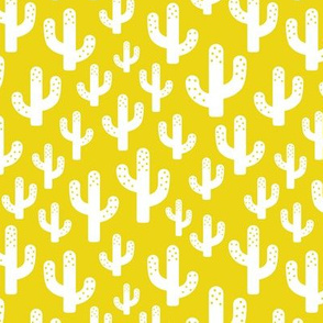 Cactus garden cool trendy summer design for kids in gender neutral yellow