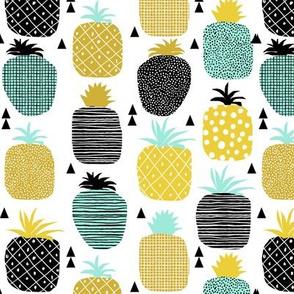 Pineapple tropical summer fruit hawaii island food