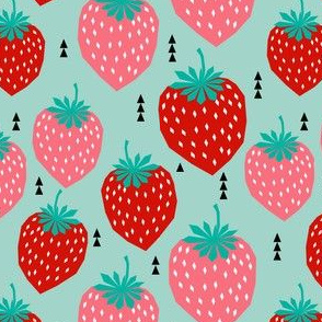 strawberries fruit tropical spring summer triangles