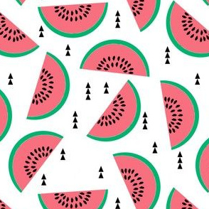 watermelons fruit summer triangle white