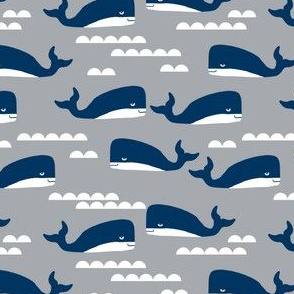 whale whales grey blue kids boys summer ocean nautical